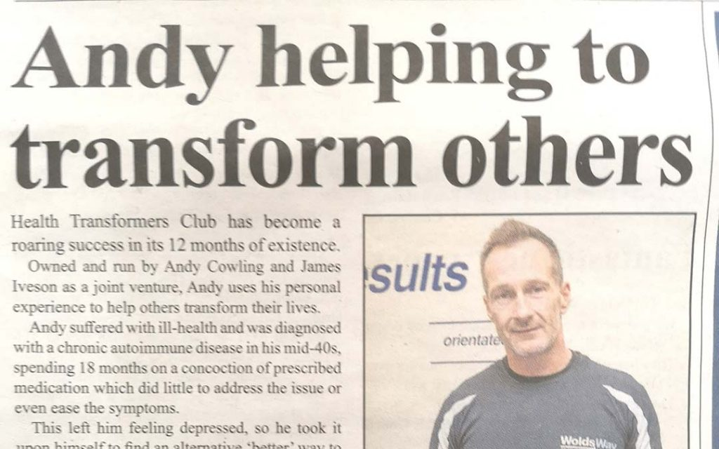 Andy helping to transform others